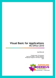 Visual Basic for Applications - MS Office 2010